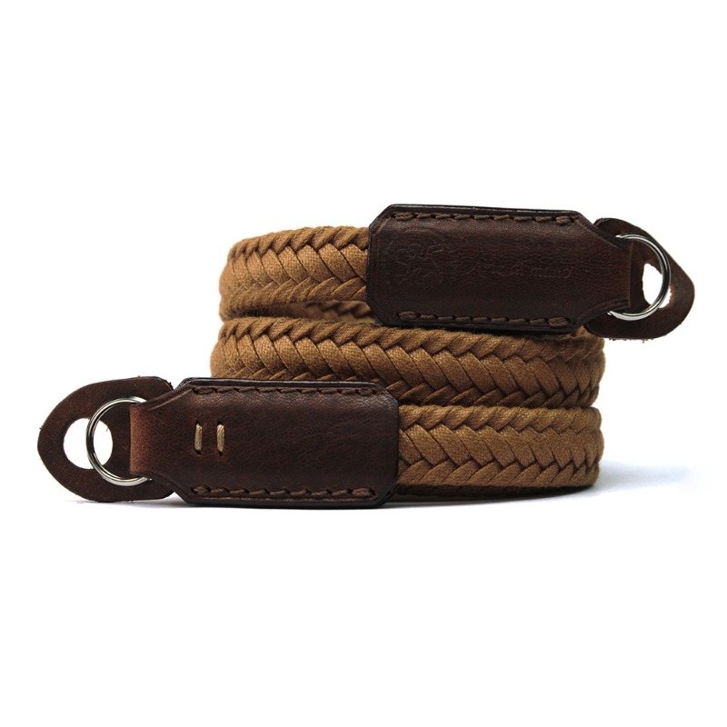 [JnK] Waxed Cotton Neck Strap Brown - Rally/Volpe